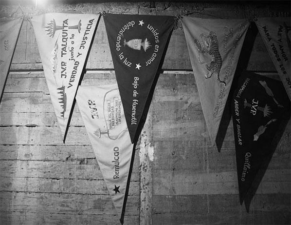 Banderines de los niños que habitaban en Colonia Dignidad