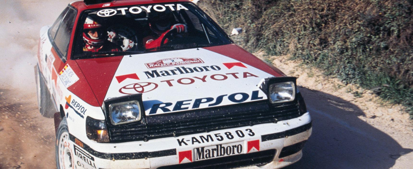 La dupla Carlos Sainz y Luis Moyá consiguieron en 1990 su primer mundial de rally a los mandos del Toyota Celica