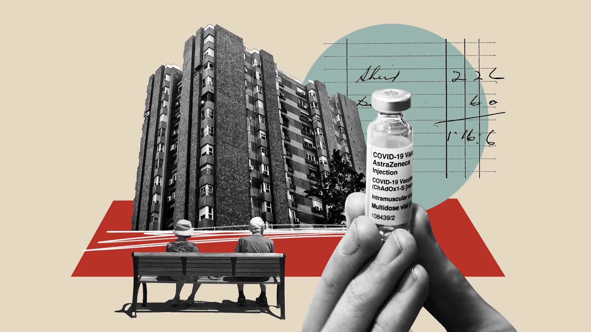 Ilustración sobre la crisis financiera