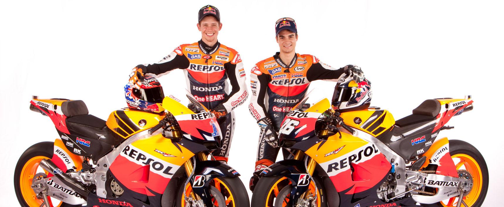 Repsol Honda logra la cifra de 300 podios y 100 victorias gracias a un primer puesto de Stoner y un tercero de Pedrosa en el GP de EEUU