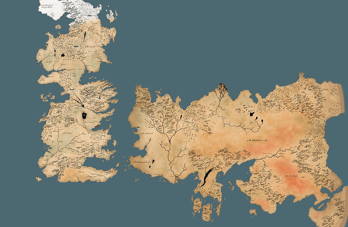 Mapa de los siete reinos de Juego de Tronos