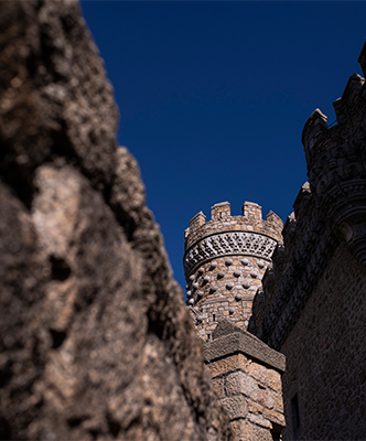 Detalles arquitectónicos del castillo