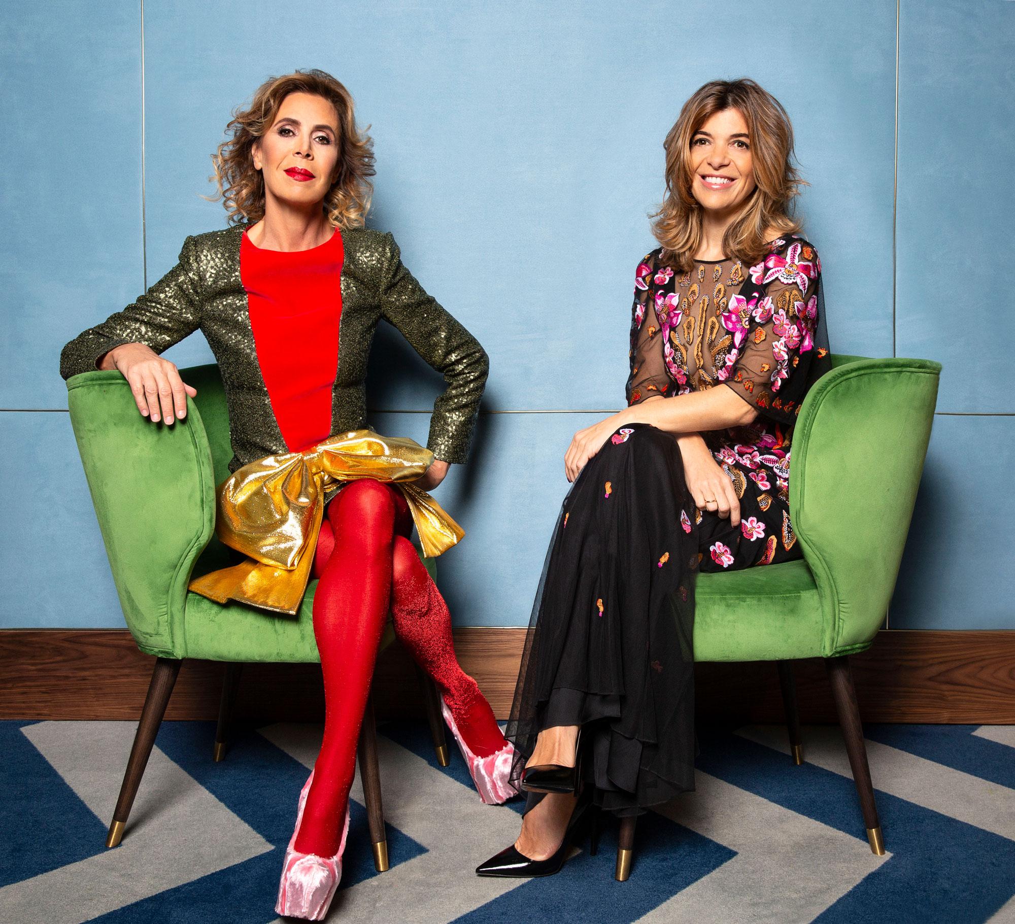 Ágatha Ruiz de la Prada y Xandra Falcó.  (Foto: Olga Moreno)