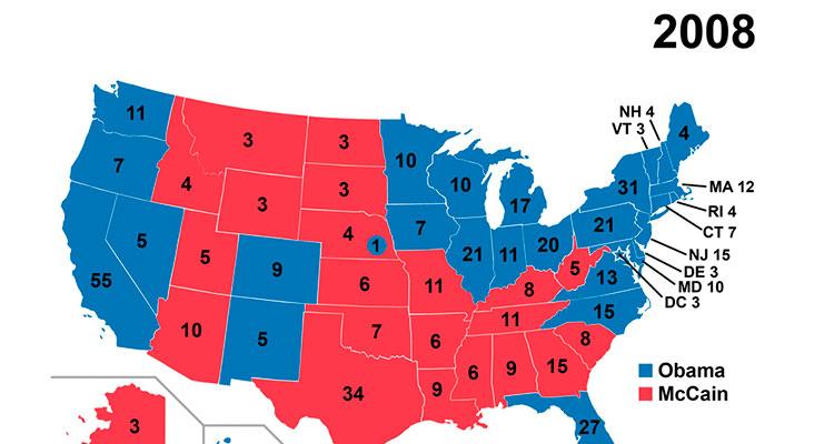 Así ha evolucionado el voto en Estados Unidos durante el siglo XXI