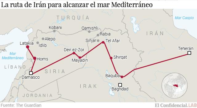 Resultado de imagen para Corredor Iraní hasta Hezbollah