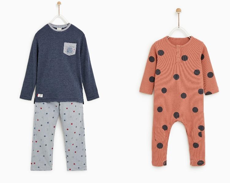 Pijamas de los hijos de Sara Carbonero. (Cortesía de Zara)