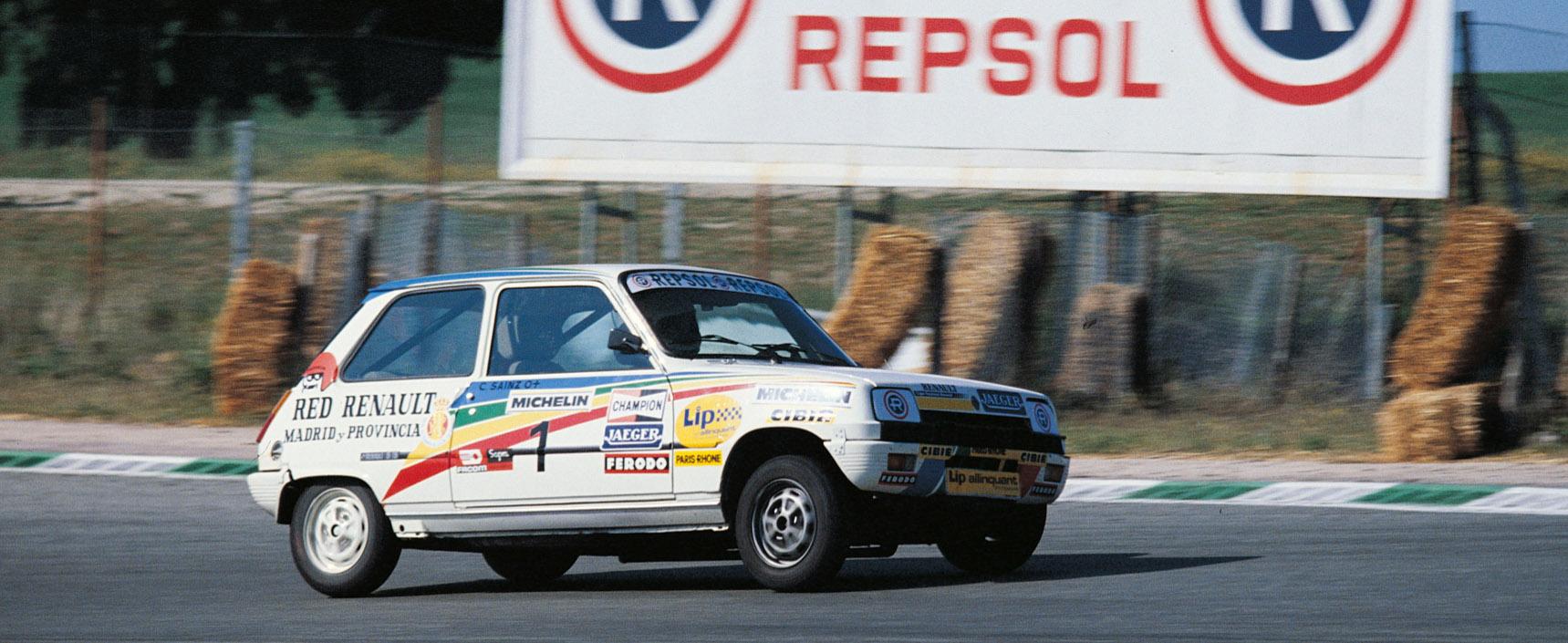 Carlos Sainz al volante de un Seat Panda en el Campeonato de España de 1982
