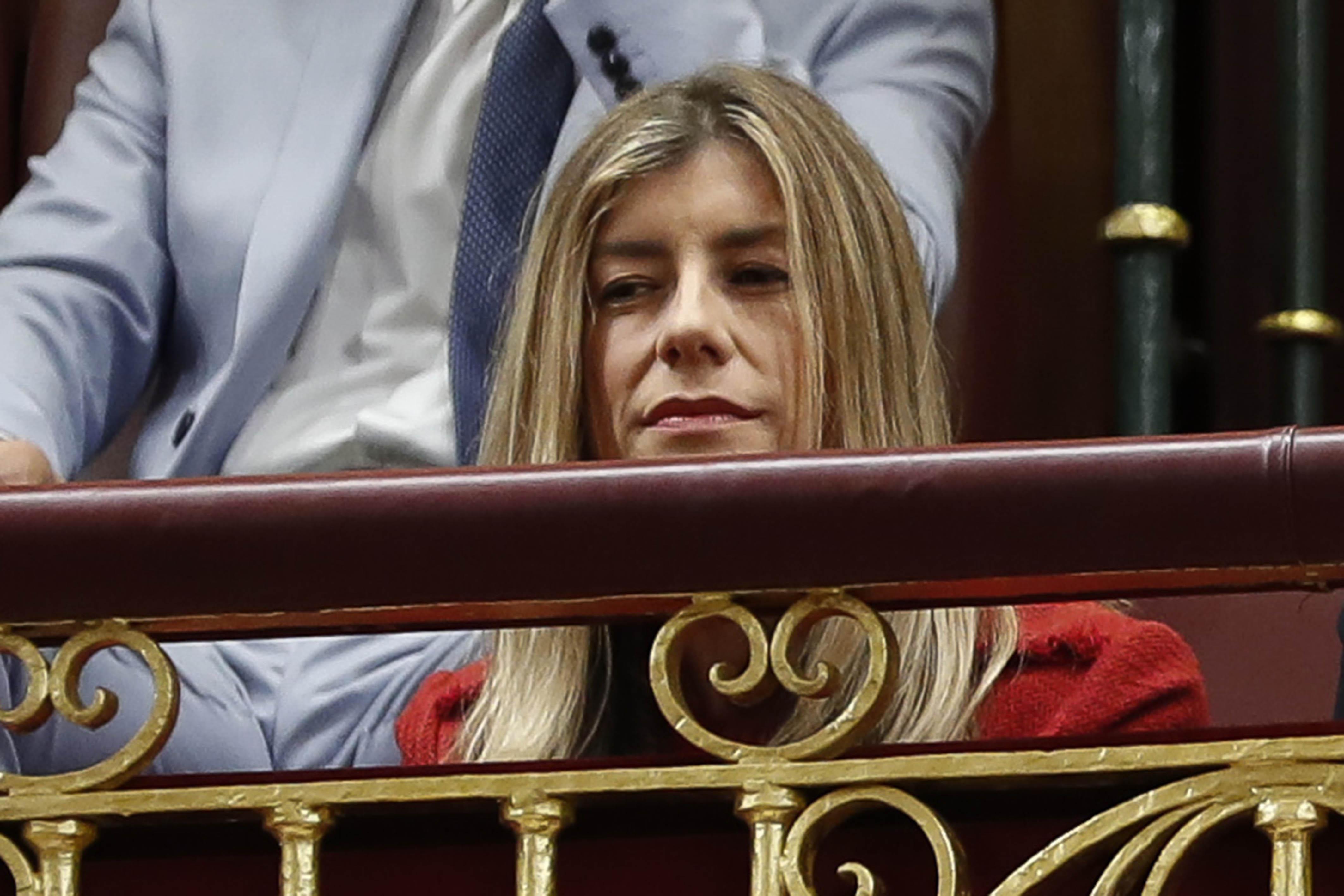 Begoña y Pedro durante el arranque de campaña del PSOE.