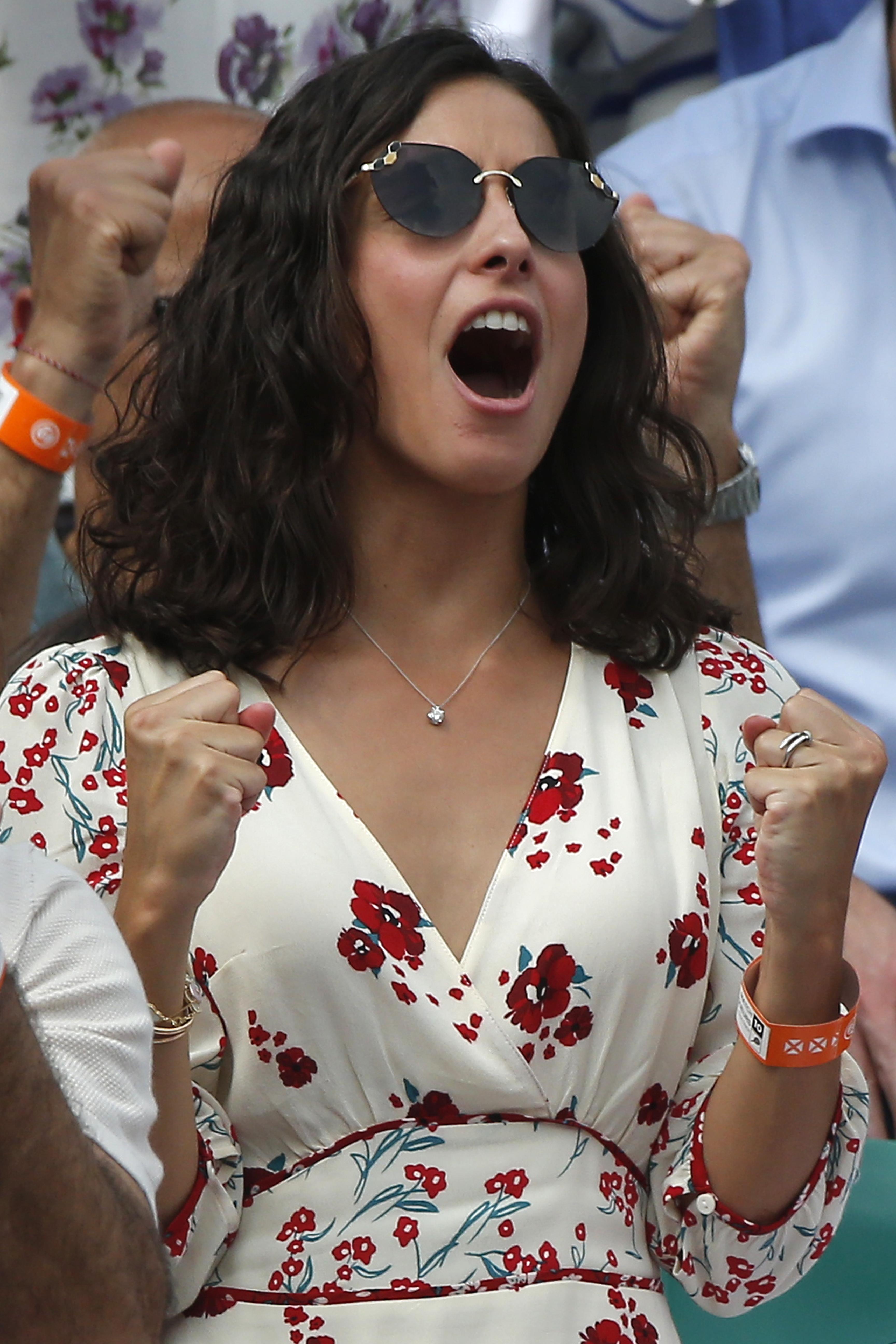 Mery Perelló durante la última final de Roland Garros. (Gtres)