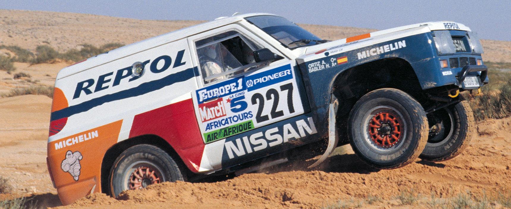 El Nissan Patrol con el que Miguel Prieto y Manuel Juncosa corrieron el primer Dakar de la historia del equipo Repsol