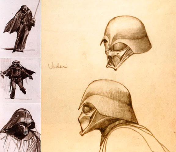 Los primeros bocetos de McQuarrie para Darth Vader
