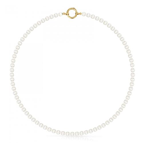 Collar modelo Hold de oro y perlas