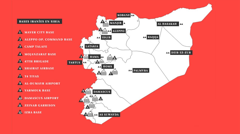 Bases iraníes en Siria