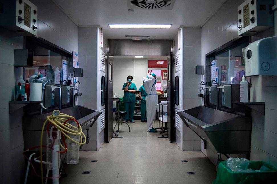 Vista del Hospital 12 de Octubre