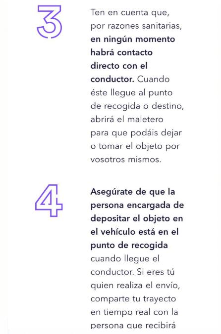 La publicidad del nuevo servicio de una empresa de VTC española