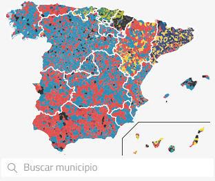 Mapa de Elecciones Municipales por municipio