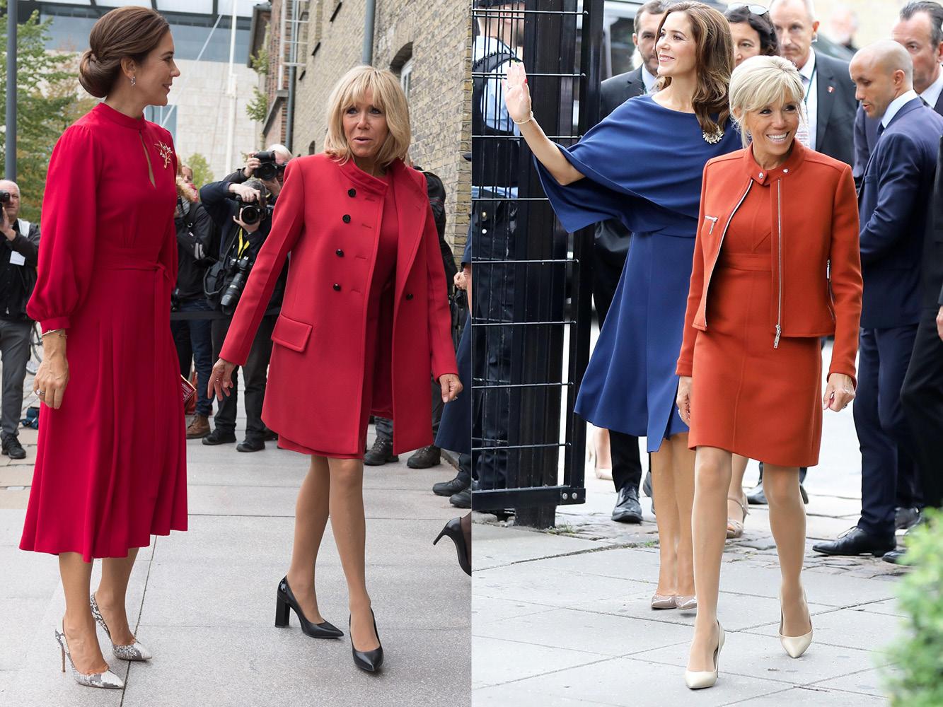 Mary de Dinamarca y Brigitte Macron. (Cordon Press)