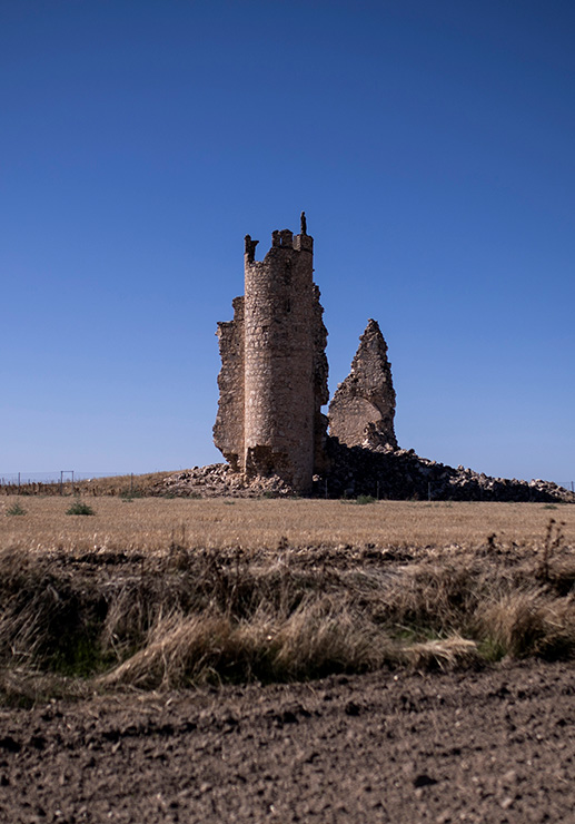 Caudilla, ejemplo de castillo semi ruinoso