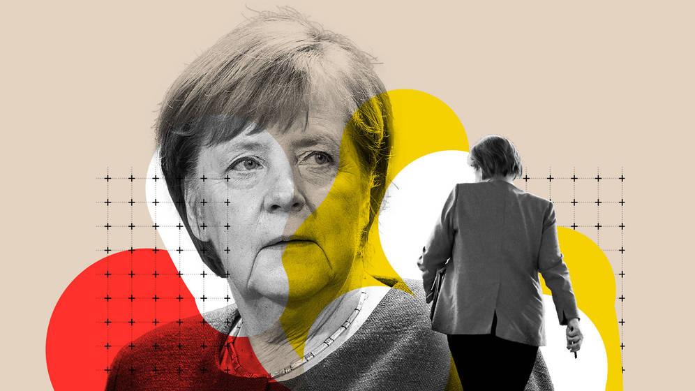 Ilustración sobre Angela Merkel