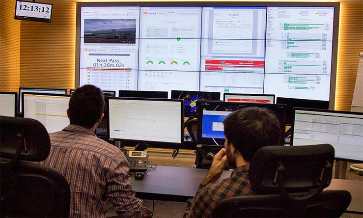 Sala de control, entre pantallas y gráficos