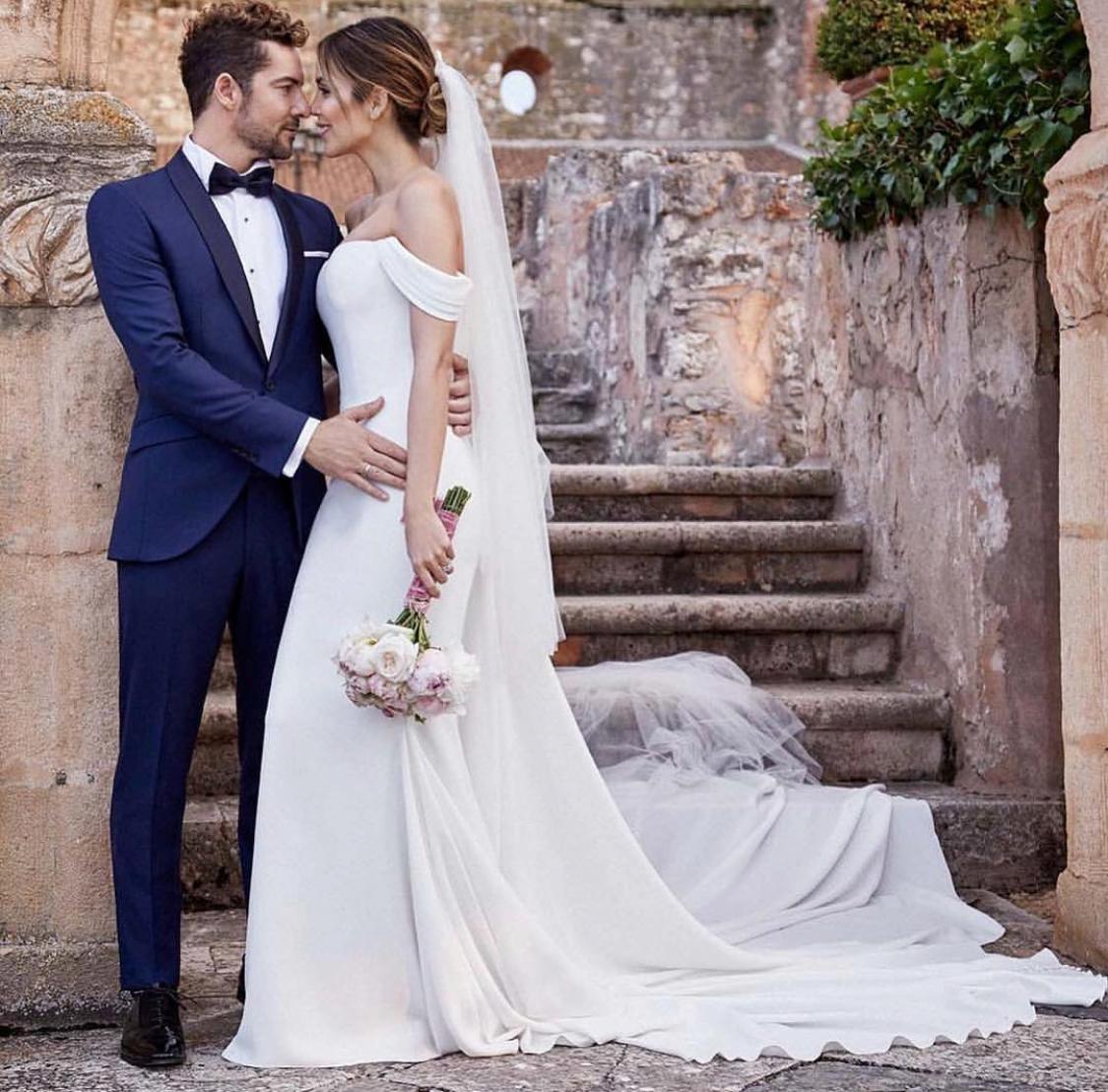 Fotografía exclusiva de la boda de David Bisbal y Rosanna Zanetti. (Cortesía de Pronovias)