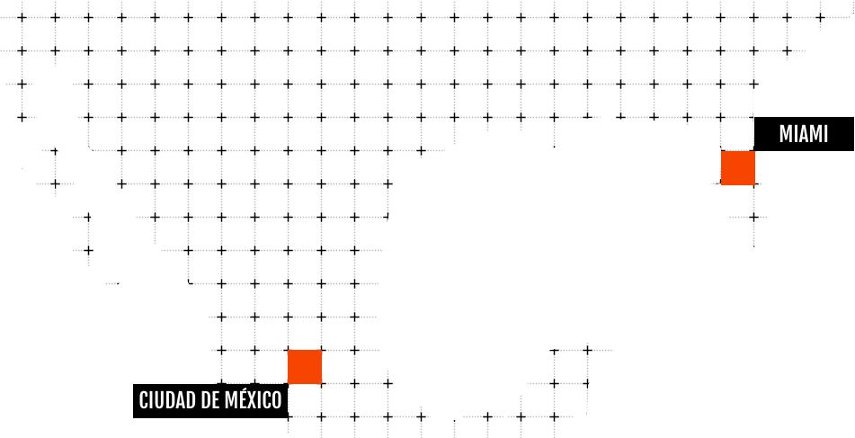 Mapa de México y EEUU