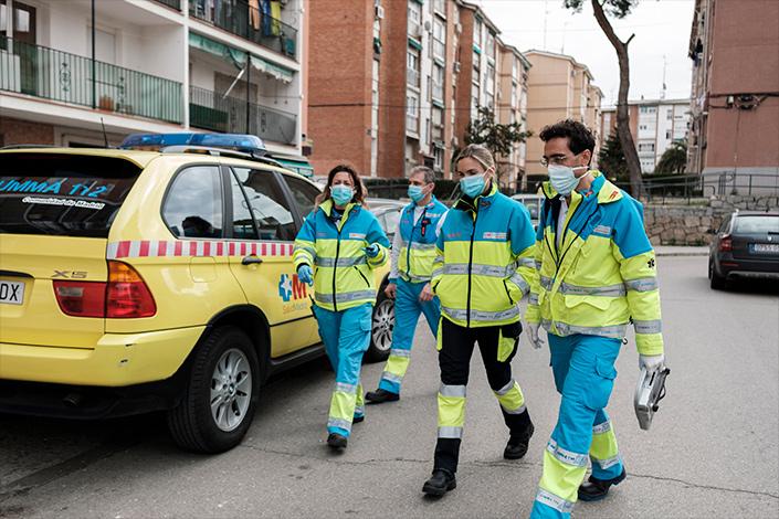 El equipo de Behzadi se moviliza para atender a pacientes
