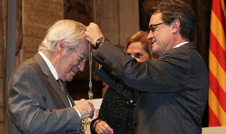 Oriol Bohigas recibió la Medalla de Oro de la Generalitat de Catalunya en 2013.