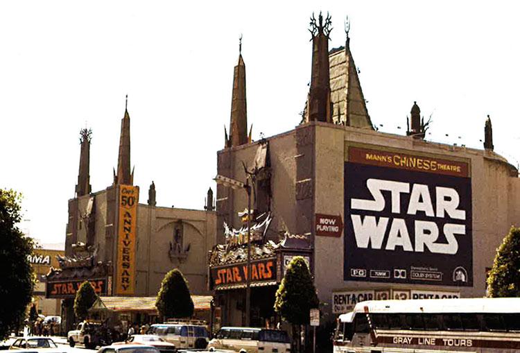 El Teatro Grauman's Chinese anuncia la proyección de Star Wars en 1977
