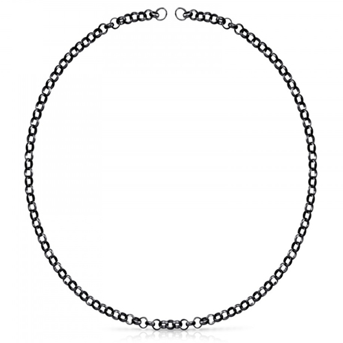 Collar modelo Hold de plata dark silver