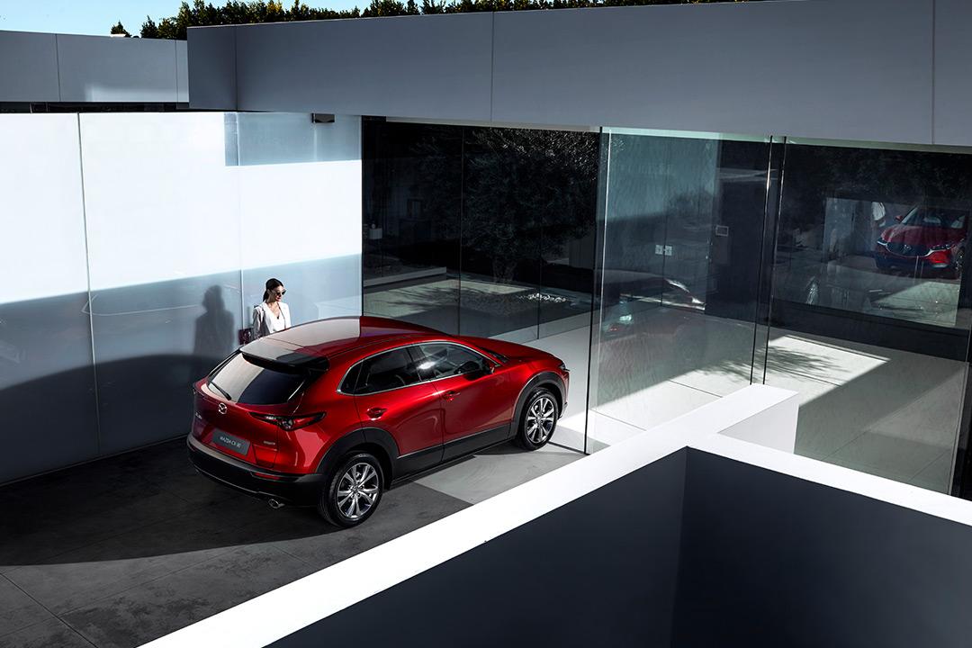 Coche Mazda desde arriba