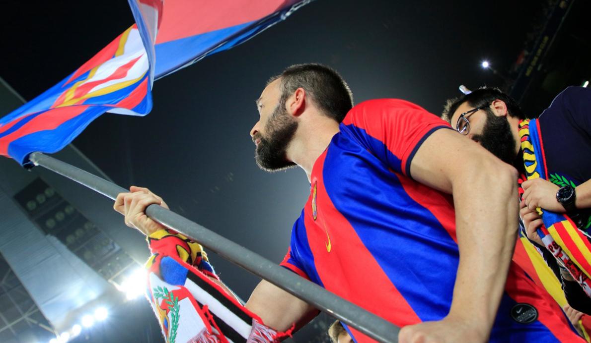 Un aficionado del FC Barcelona