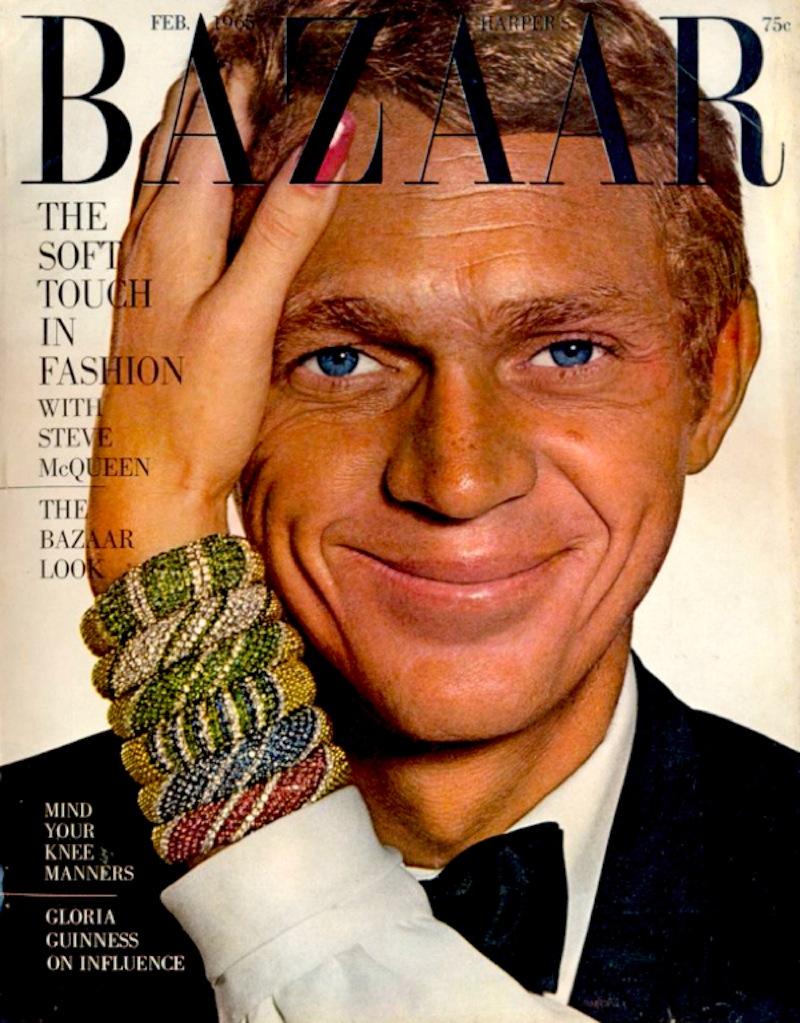 Portada de Steve McQueen de 'Harper's Bazaar USA'.