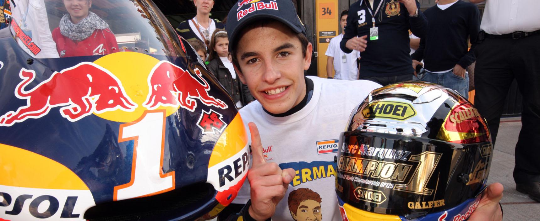 Marc Márquez se proclamó en Mugello campeón del mundo en la categoría de 125 cc