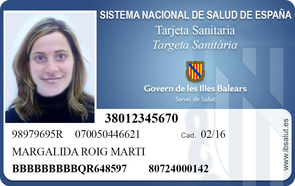 Tarjeta Sanitaria de Islas Baleares.