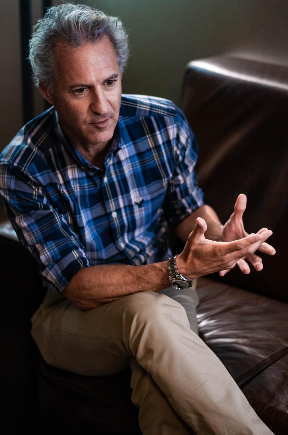 Moisés Chocrón durante la entrevista