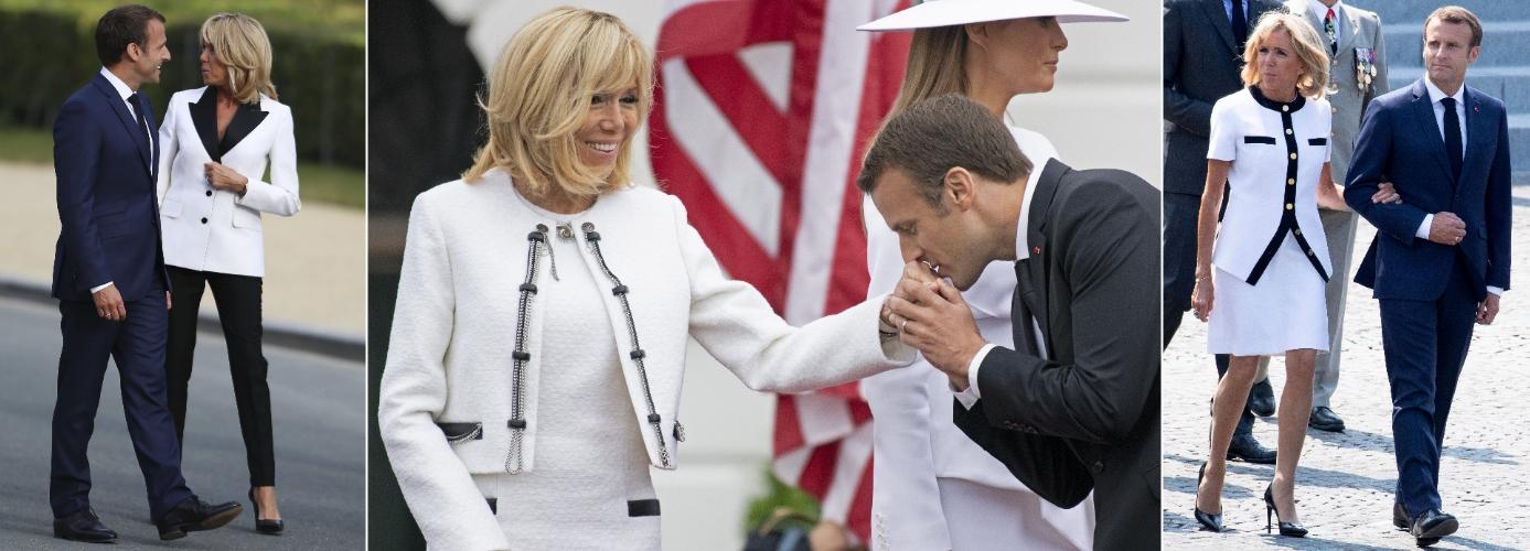 Brigitte Macron, todo al blanco. (Cordon Press)