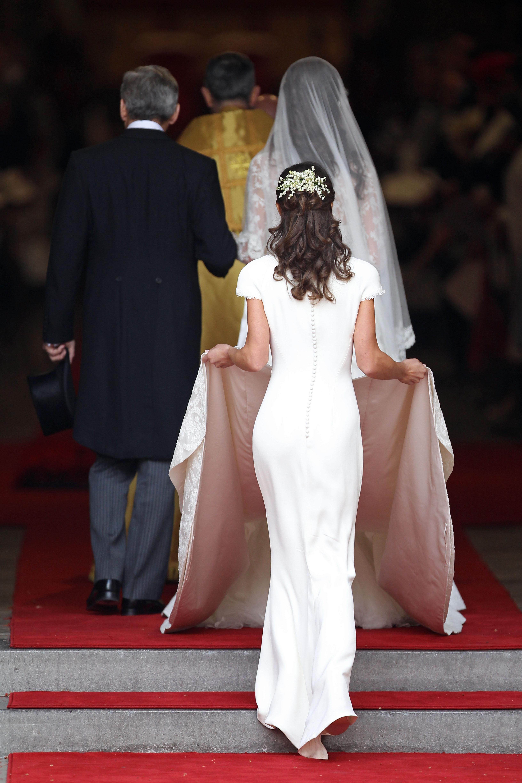 Espalda del vestido de Pippa Middleton. (Getty)