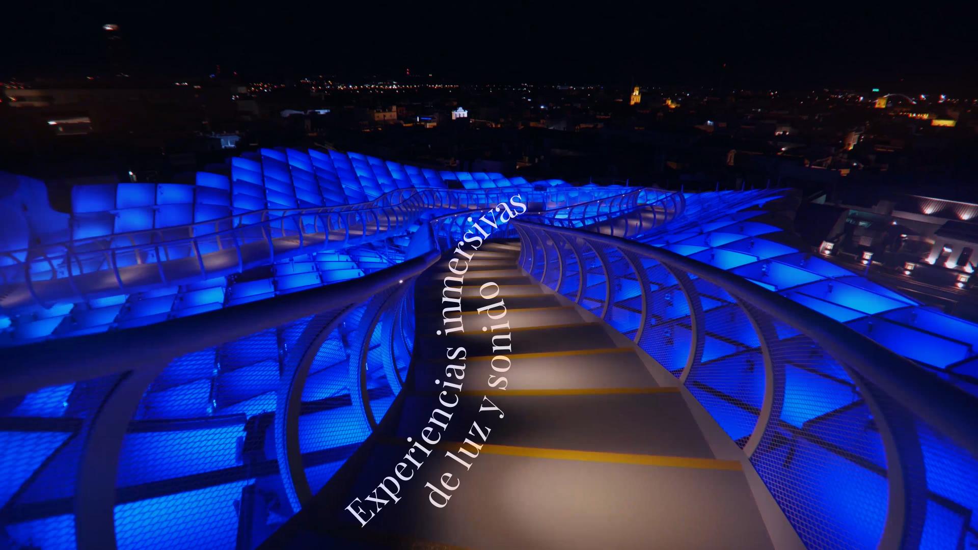 Experiencias inmersivas de luz y sonido