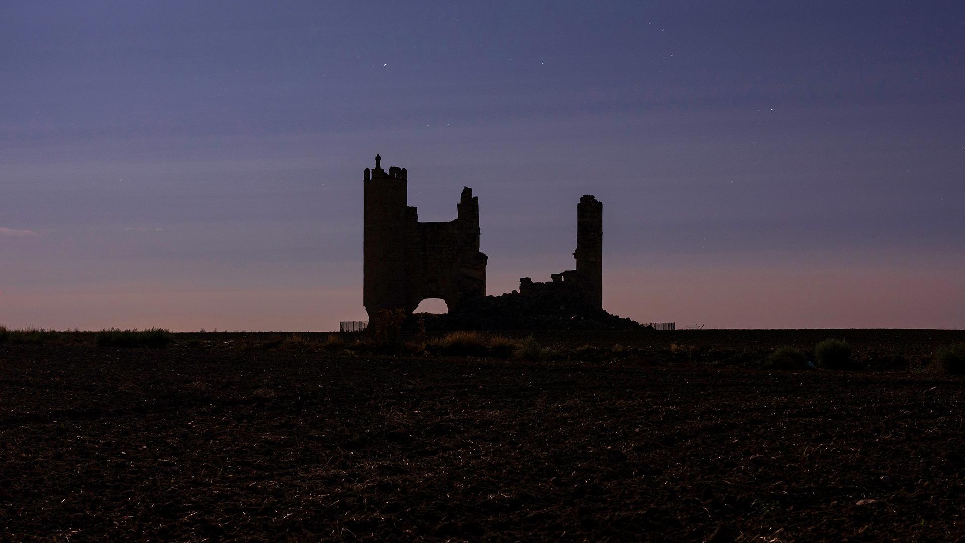 Castillo de Caudilla al atardecer