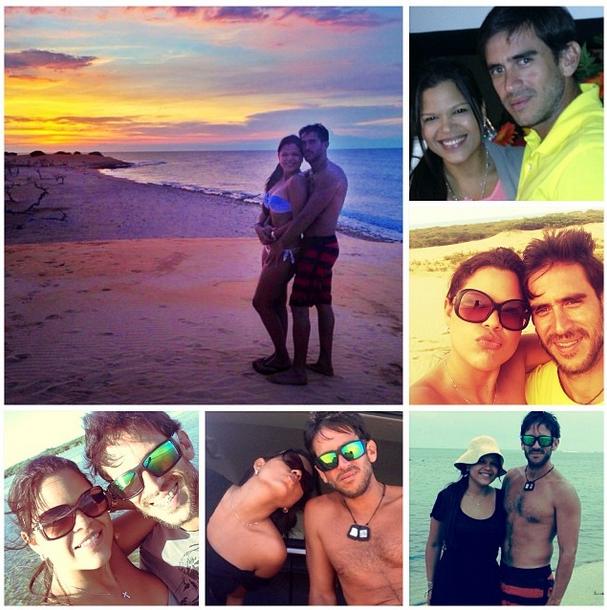 María Gabriela Chávez, junto a su actual novio, Roberto Leyba (Instagram)
