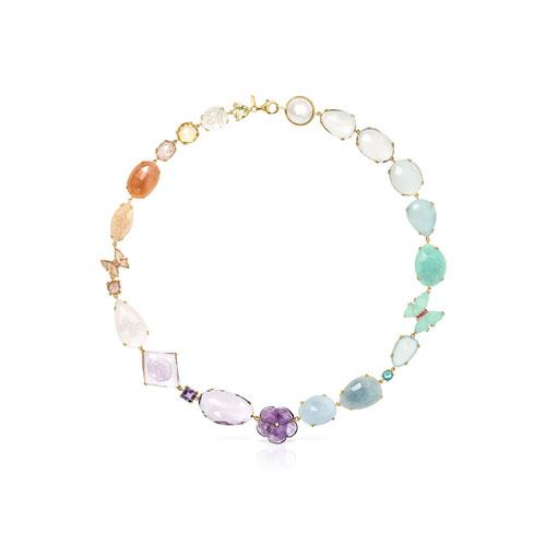 Collar Vita de oro con gemas
