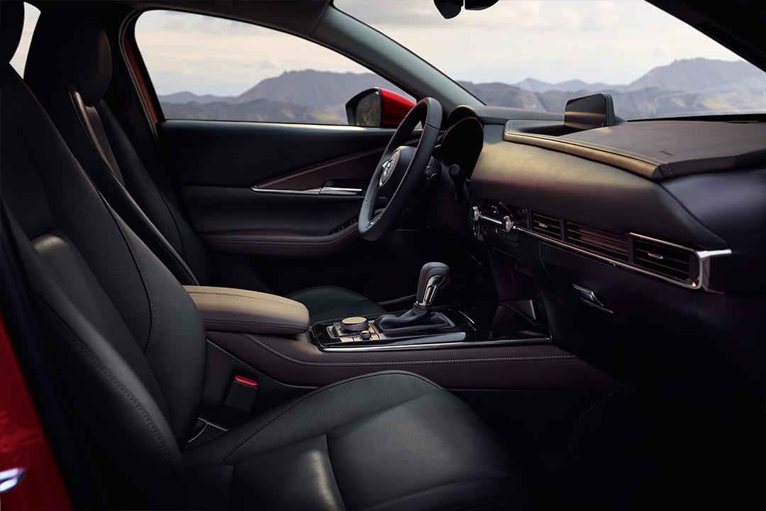 Coche Mazda desde el interior