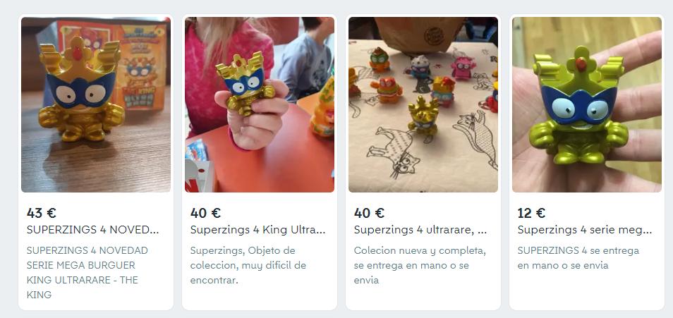 Algunos de los Superzings a la venta en Wallapop. (Wallapop)