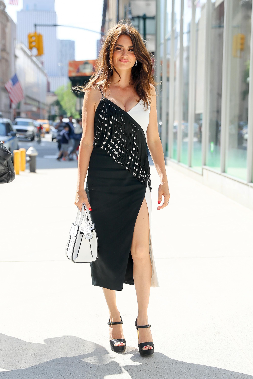 Look completo de Penélope Cruz en Nueva York.