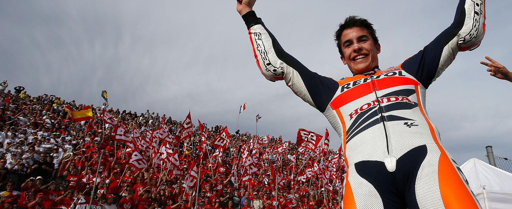 Con 20 años, Marc Márquez se convirtió en el piloto más jóven de la historia en lograr un Mundial de MotoGP