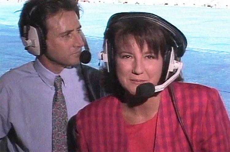 Olga Viza con Matías Prats en los Juegos Olímpicos de Barcelona 92