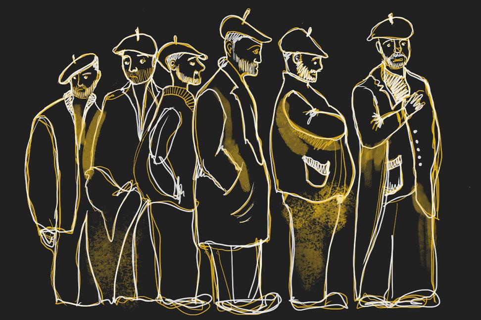 Reinterpretación de la ilustración de Robledano, antiguo preso del penal