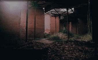 La ruina del Pabellón de los Hexágonos