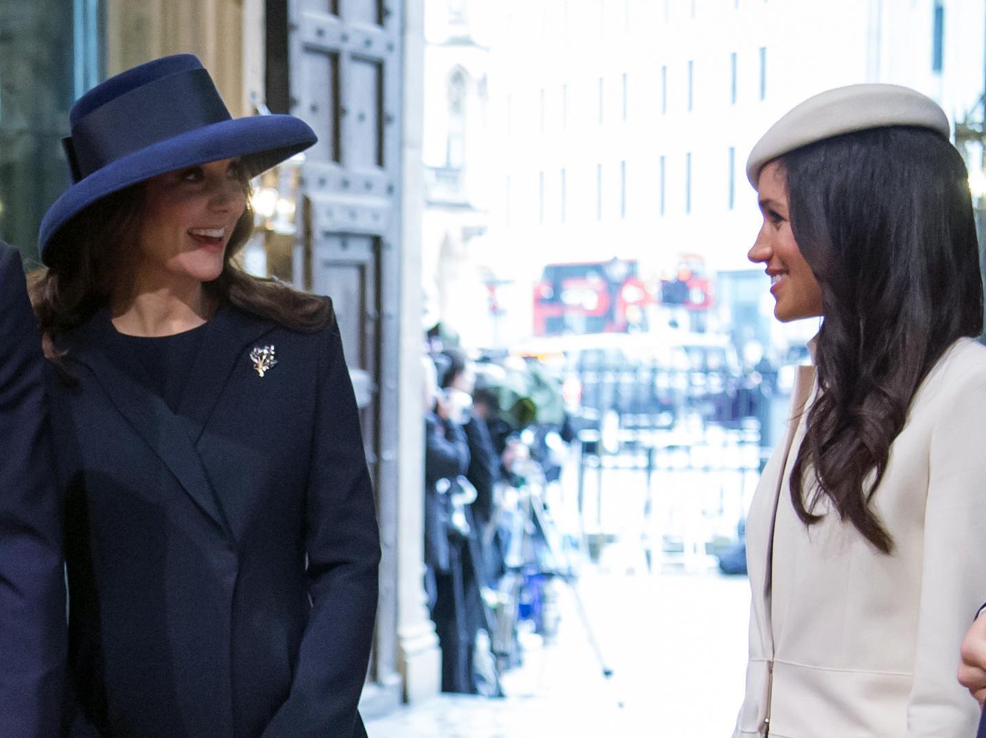 Las duquesa de Cambridge y Sussex en uno de sus últimos actos juntas.
